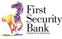 First Security Bank - Division of Glacier Bank multi-colored logo